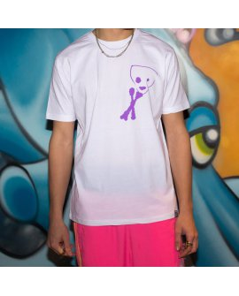 Purple Skull T-Shirt/ White