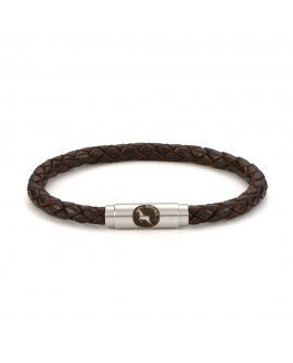 Brown Leather Single Wrap