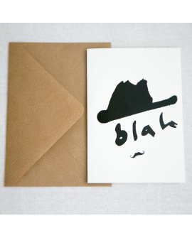 Blah Hat Greeting Cards 4pk