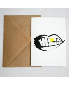 Mouth Greeting Cards 4pk