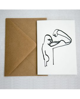 Muscle Greeting Cards 4pk