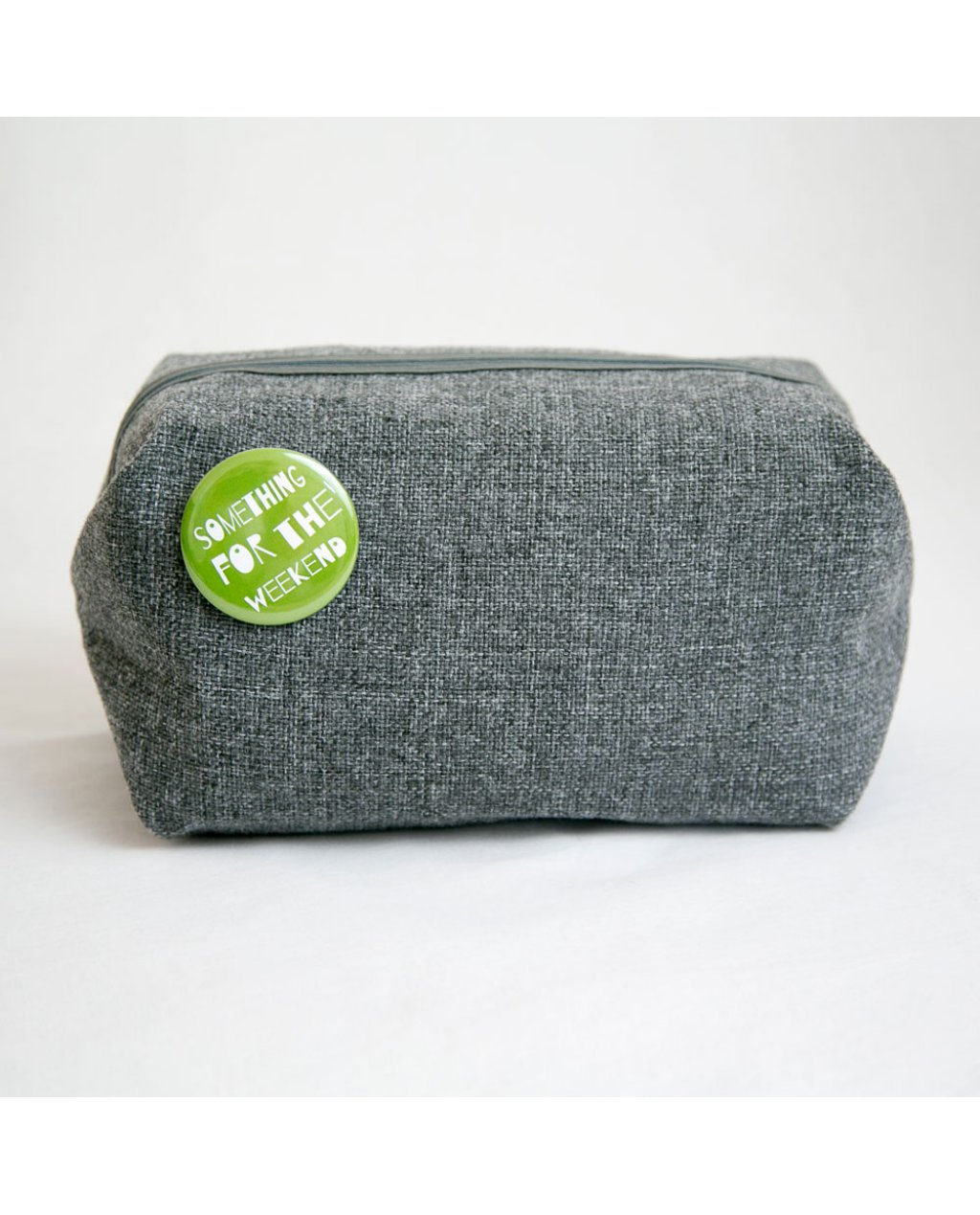 Grey Washbag 'Something for the weekend'